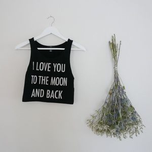 Tops - To The Moon Crop Top
